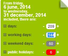 Jours Ouvres Sur L Annee 2014 En France
